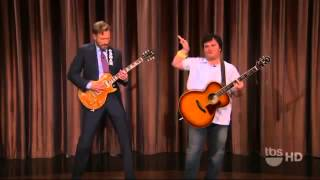 Repeat youtube video Conan O'Brien and Jack Black  Guitar Battle