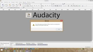 Audacity error while opening sound device when recording