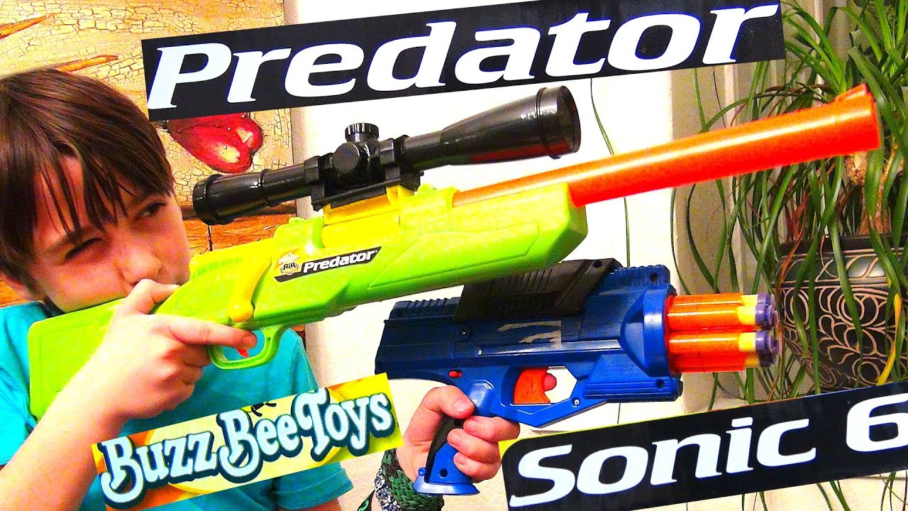 Buzz Bee Toys Air Warriors Predator And Sonic 6 Youtube