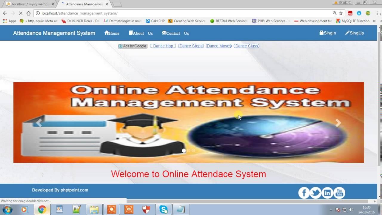 Online attendance management system - phptpoint
