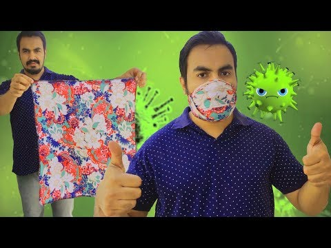 Turn your handkerchief in to a face mask\Face mask with kerchief\DIY mask