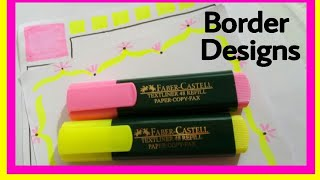 Borders for project file    How to decorate borders    How to decorate borders of project files