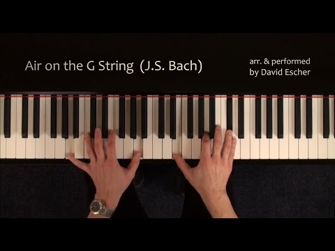 Air on the G String (J.S. Bach)  - Piano -  Tutorial view