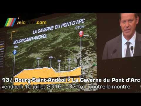 Présentation du parcours du Tour de France 2016 en détail par Christian Prudhomme