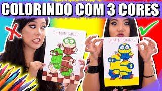 DESAFIO COLORINDO COM 3 CORES !! (3 MARKER CHALLENGE) DRAGON BALL, MINIONS E FROZEN | Blog das irmãs thumbnail