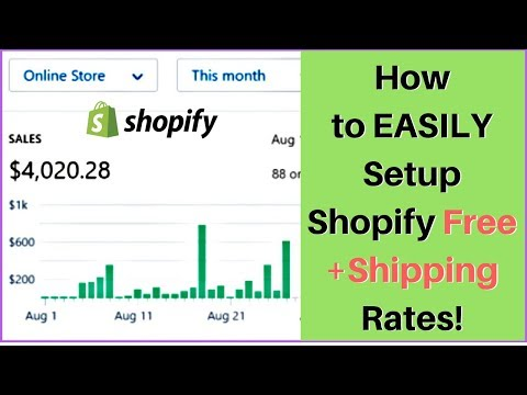 How to EASILY Setup Shopify Shipping Rates With Free+Shipping 🛠