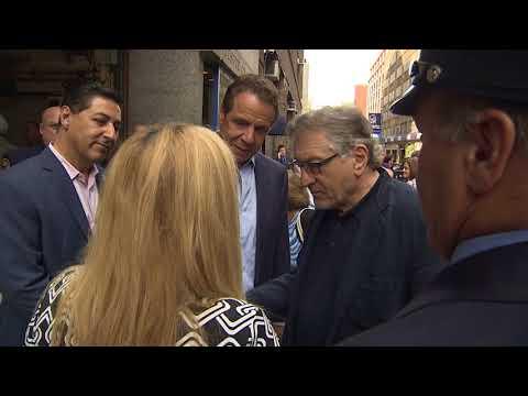 Governor Cuomo Visits Rescue One with Robert DeNiro