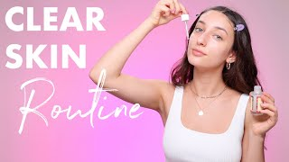 CLEAR SKINCARE ROUTINE (how I got rid of fungal acne)