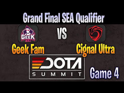 Geek Fam Vs Cignal Game 4 | BO5 | Grand Final DOTA Summit 11 SEA Qualifier LIVE | NO COMMENTARY