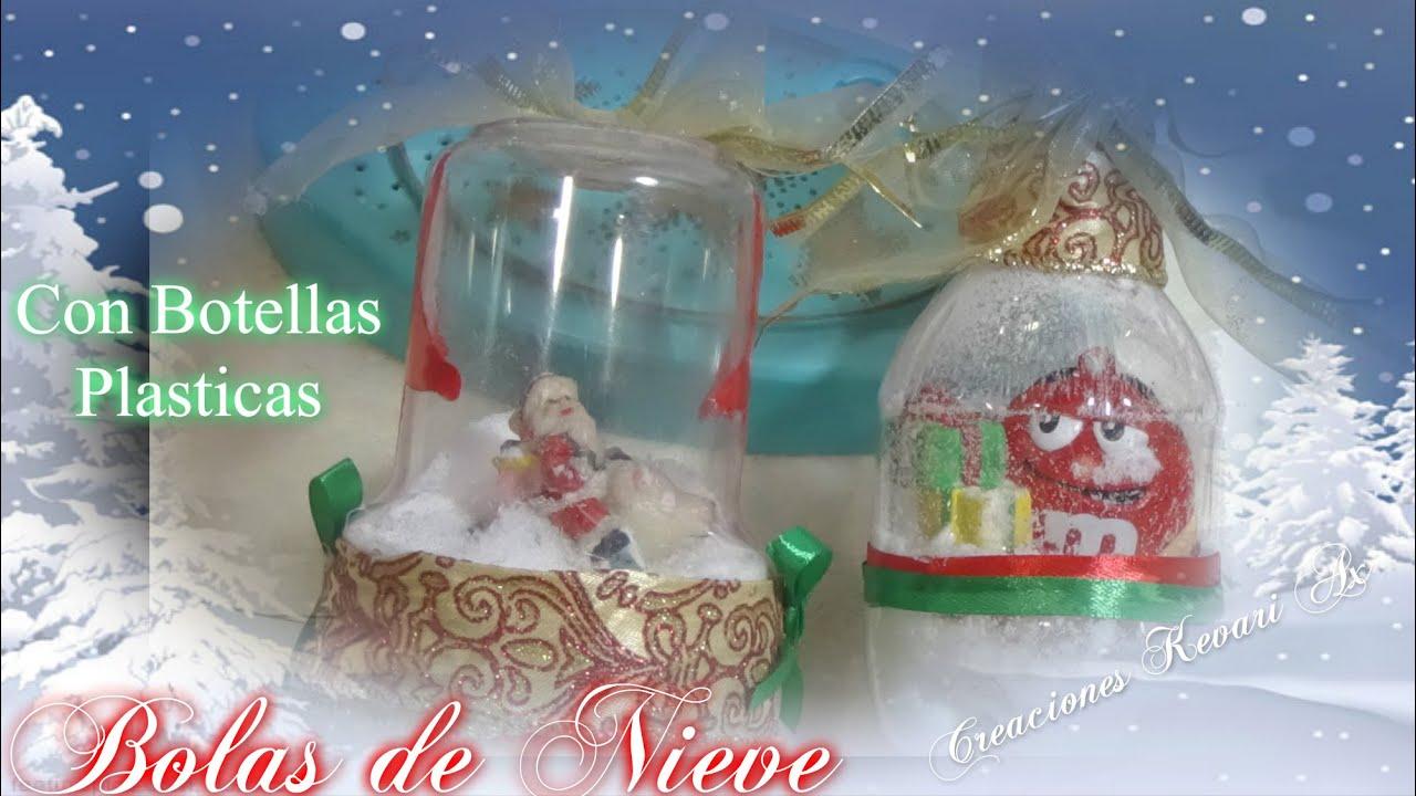 Bolas o esferas de nieve con botellas pl sticas diy snow - Como hacer bolas de nieve ...