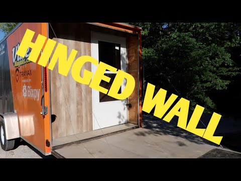 Enclosed Trailer Modification : Added A Hinged Rear Wall With Door