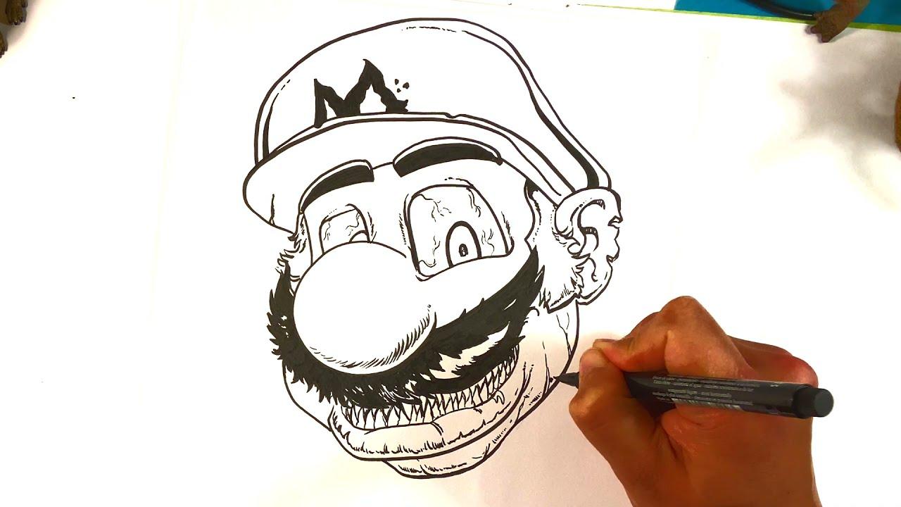 How to Draw Zombie Mario