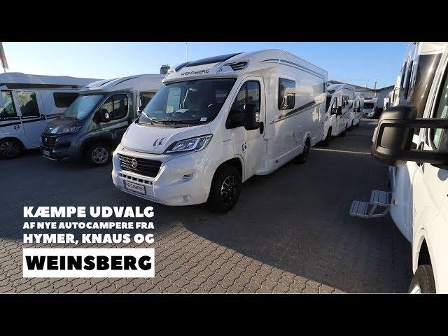 Kæmpe udvalg af nye autocampere fra Hymer, Knaus og Weinsberg
