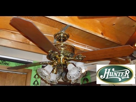 Hunter 1896 Art Nouveau Ceiling Fan Hd Remake