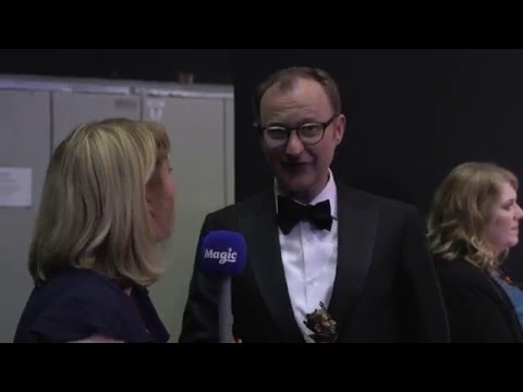 Watch Mark Gatiss at the Olivier Awards where he reveals Sherlock plans!
