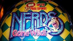 Nerds Gone Wild Slot - 4 SYMBOL TRIGGER COINSHOW - Bonus!