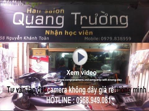 Camera ip wifi không dây tại salon tóc QUANG TRƯỜNG