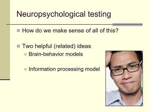 Class 15a: basics of neuropsychological testing