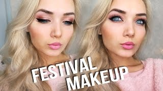 Festival Makeup Tutorial + Outfit AD