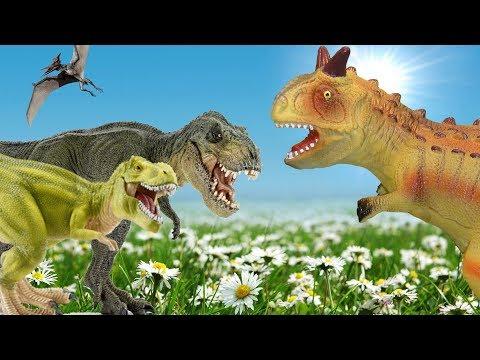 Динозавры. ТИРАННОЗАВРЫ и СПИНОЗАВРЫ, ЗАУРОФОГАНАКСЫ и ТРИЦЕРАТОПСЫ и др. Сборник про динозавров