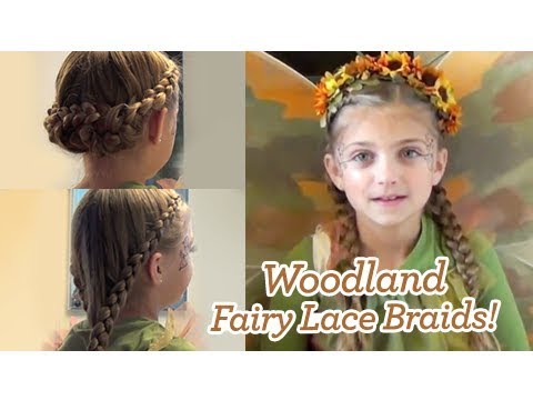 woodland fairy lace braids halloween