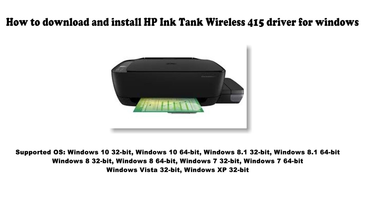 Hp Ink Tank Wireless 415 Driver And Software Downloads