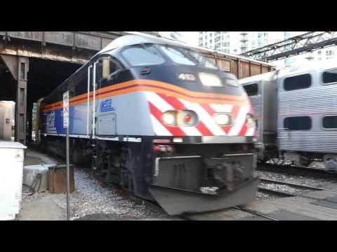Metra metropolitan area commuter railroad MD Line trains