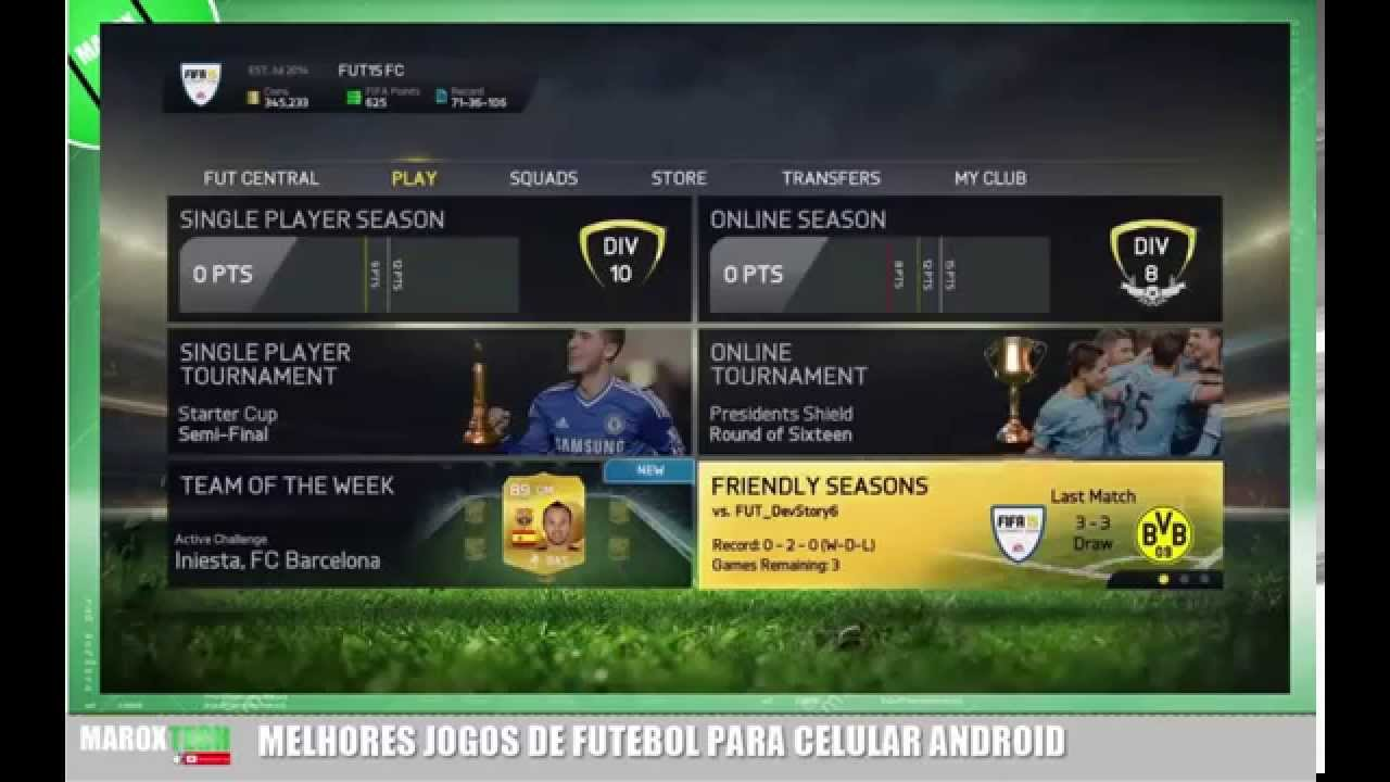 Futebol online android