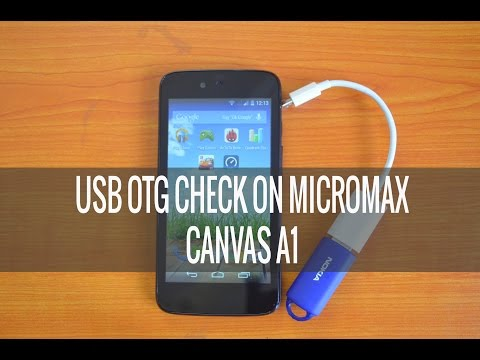 USB OTG Functionality Check on Micromax Canvas A1 (Android One)