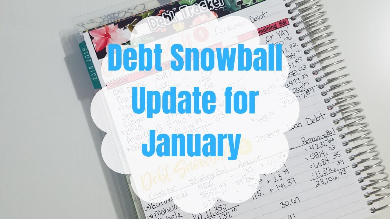 Debt Elimination Journey   Debt Snowball Update for January   Paying off $68,000 of Debt