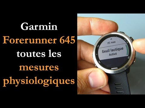 Forerunner 645 mesures physiologiques thumbnail