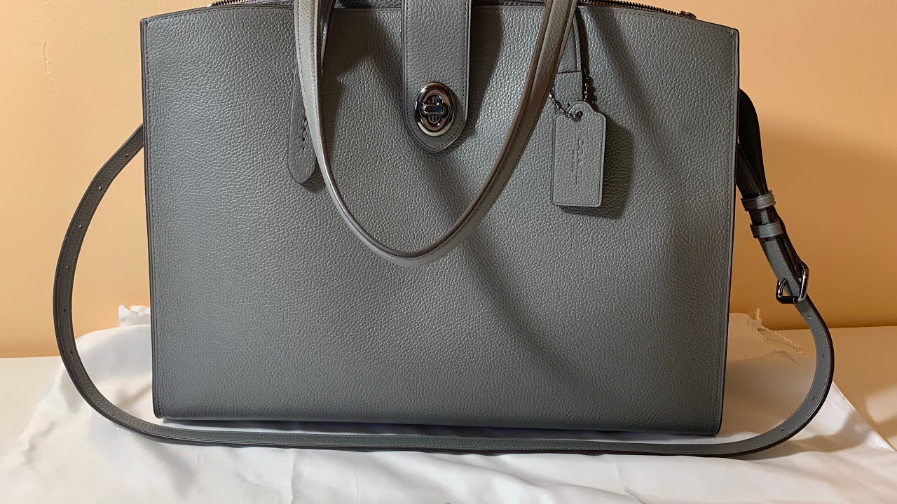 72c8ff16a7 Coach Turnlock Charlie Carryall bag - does it fit a laptop🤔 - YouTube