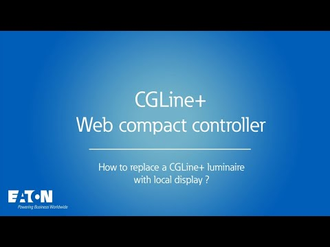 CGLine+ Web compact controller - How to replace a CGLine+ safety luminaire using the local display ?