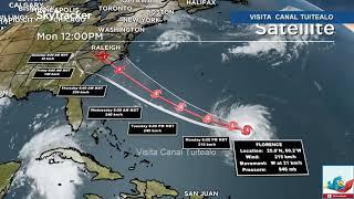 Huracán Florence ya es categoría 4 Alerta en Carolina del Norte Estados Unidos