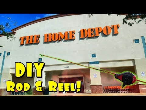 DIY Fishing Rod From Home Depot Catches BIG FISH!! Fishing Challenge!