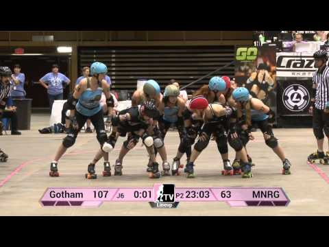 WFTDA Roller Derby: Minnesota RollerGirls v Gotham Girls Roller Derby: 2013 D1 Playoffs