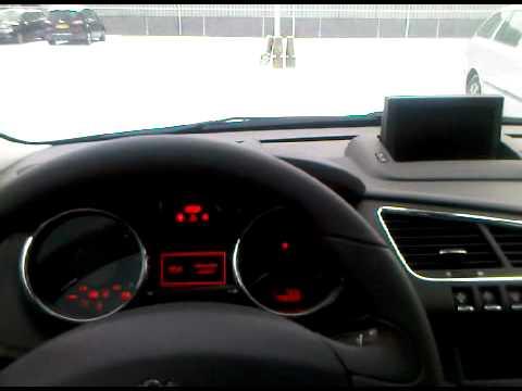 Peugeot 3008 Start-Up Sequence (Navigation&Head-Up Display)