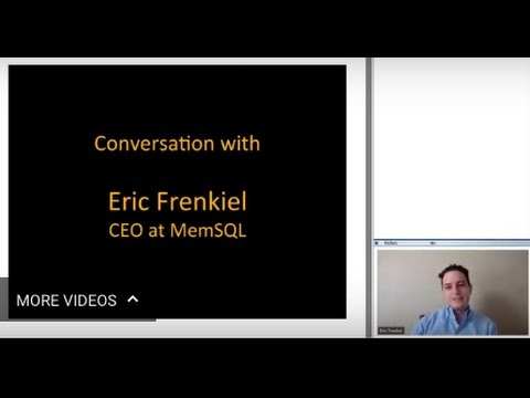345th 1Mby1M Roundtable March 23, 2017: With Eric Frenkiel, MemSQL
