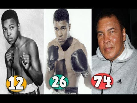 Muhammad Ali Transformation From 03 To 74 Years Old Youtube