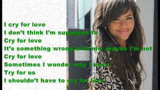 Zendaya Cry For Love Lyrics