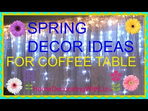 SPRING DECOR IDEAS FOR COFFEE STATION