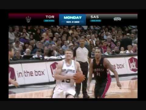 Matt Bonner Dunks over the Raptors
