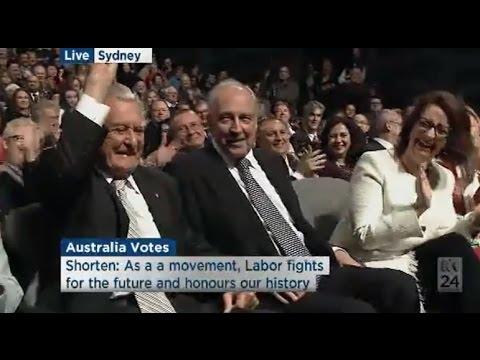 Bill Shorten honours Julia Gillard, Paul Keating & Bob Hawke at the Labor launch