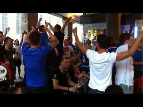 10 German Bombers - Chelsea v Bayern outside a pub in Munich centre hours before kickoff.