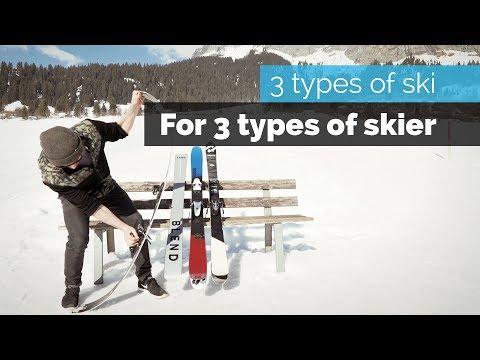 3 TYPES OF SKI FOR 3 TYPES OF SKIER