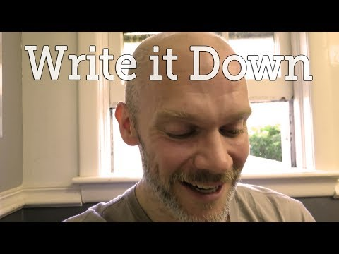 Write it Down (In a Cool Moleskine)