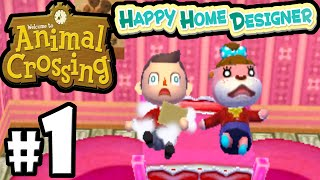Animal Crossing Happy Home Designer Part 1 Gameplay Walkthrough (day 1 New Town!) 3ds Achhd