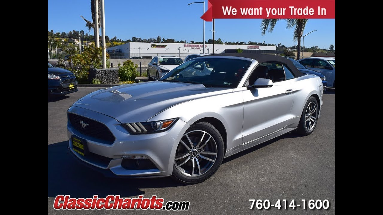Used 2015 ford mustang ecoboost premium convertible for sale in san diego stock 19409