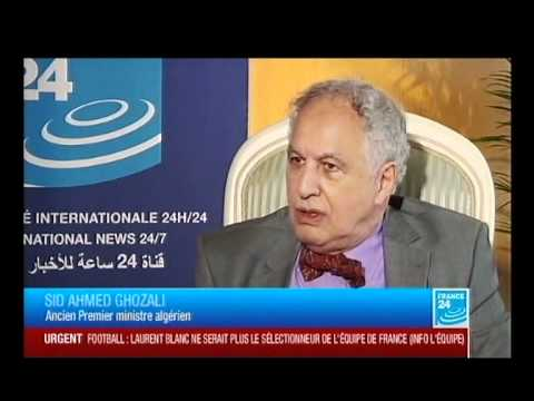 la cha ne france 24 interview avec l 39 ancien premier ministre alg rien sid ahmed ghozali youtube. Black Bedroom Furniture Sets. Home Design Ideas