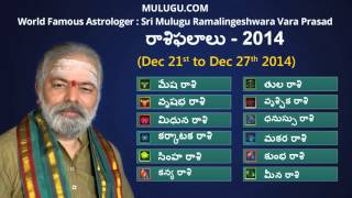 Weekly Rasi Phalalu Dec 21st - Dec 27th 2014